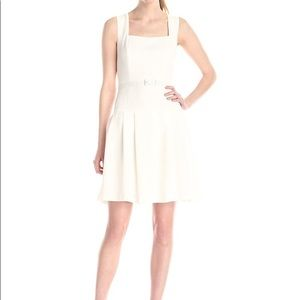 Adrianna Papell White crepe Pebble dress 10 Lined